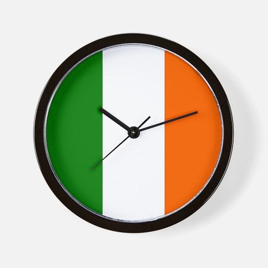 Borderless Square irish Flag Wall Clock