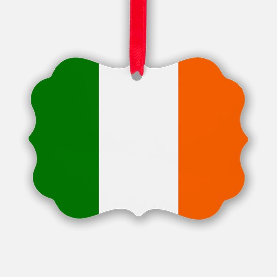 Borderless Square irish Flag Ornament