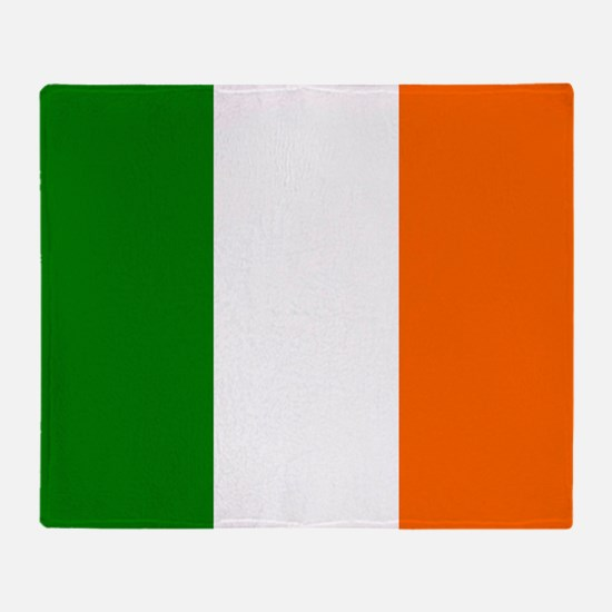 Borderless Square irish Flag Throw Blanket
