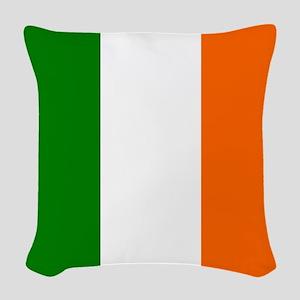 Borderless Square irish Flag Woven Throw Pillow