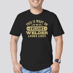 Awesome Welder Men's Fitted T-Shirt (dark)