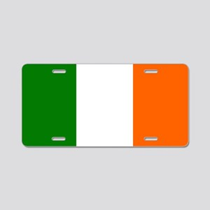 Borderless Square irish Fla Aluminum License Plate