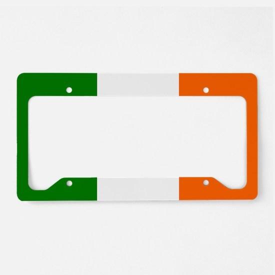 Borderless Square irish Flag License Plate Holder