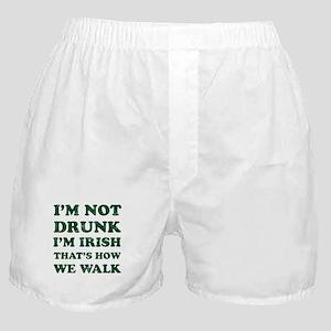 Im Not Drunk Im Irish - Washed Boxer Shorts