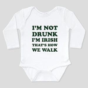 Im Not Drunk Im Irish - Washed Body Suit