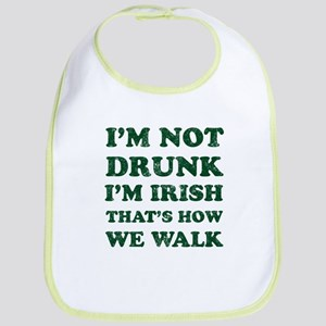Im Not Drunk Im Irish - Washed Bib