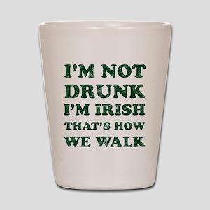 Im Not Drunk Im Irish - Washed Shot Glass