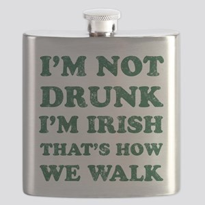 Im Not Drunk Im Irish - Washed Flask