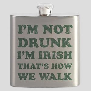 Im Not Drunk Im Irish - Washed Flask