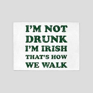 Im Not Drunk Im Irish - Washed 5'x7'Area Rug