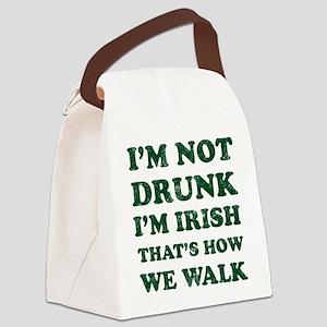 Im Not Drunk Im Irish - Washed Canvas Lunch Bag