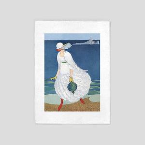 VOGUE - Bride on the Seashore 5'x7'Area Rug