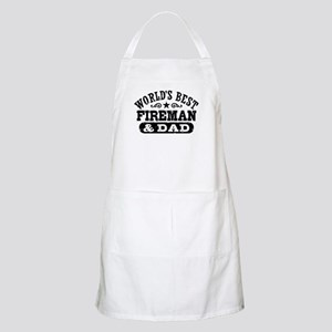World's Best Fireman and Dad Apron
