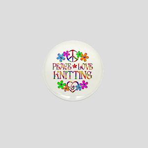 Peace Love Knitting Mini Button