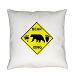 Bear and Tracks XING Everyday Pillow
