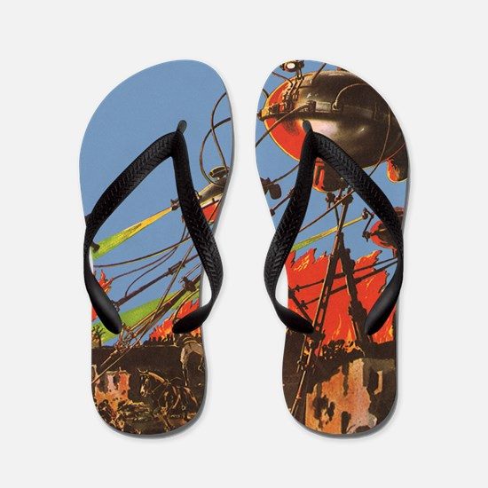 Vintage Science Fiction Flip Flops