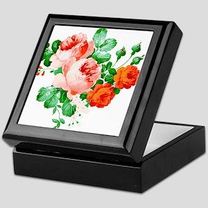 Red And Pink Roses Keepsake Box