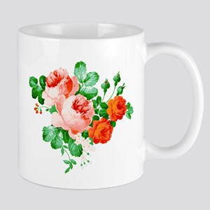 Red And Pink Roses Mugs