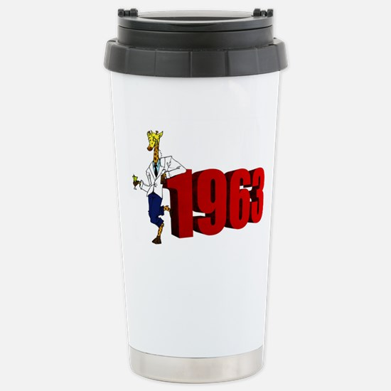 Retro Giraffe with Martini Travel Mug
