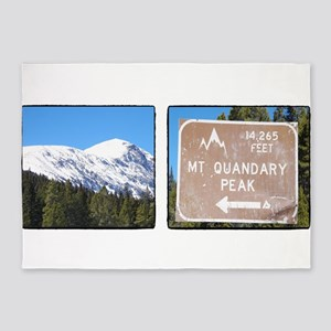 Quandary Peak and info 5'x7'Area Rug