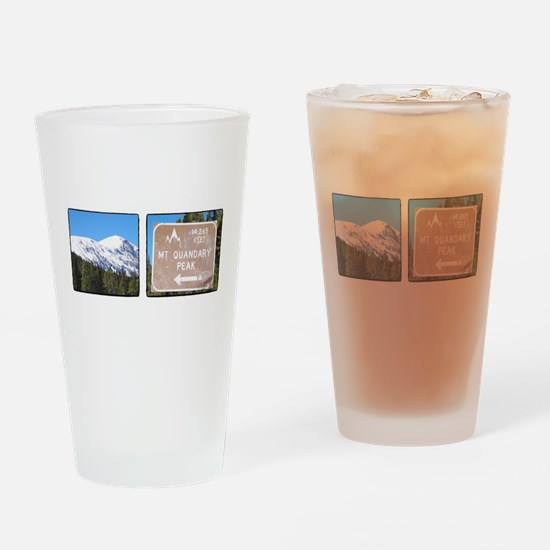 Quandary Peak and info Drinking Glass