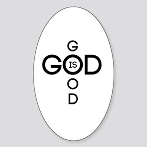 God is good Sticker (Oval)