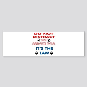SERVICE DOG Bumper Sticker