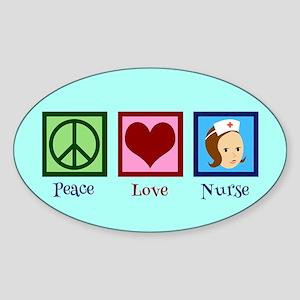 Pretty Nurse Sticker (Oval)
