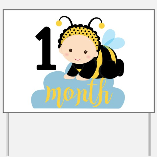 1 Month Monthly Milestone Yard Sign