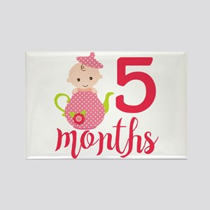 5 Months Monthly Milestone Rectangle Magnet