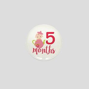 5 Months Monthly Milestone Mini Button