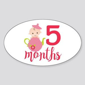 5 Months Monthly Milestone Sticker (Oval)