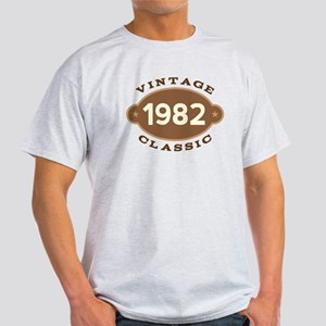 1982 Birth Year Birthday Light T-Shirt