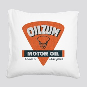 OilZum Retro Logo Square Canvas Pillow
