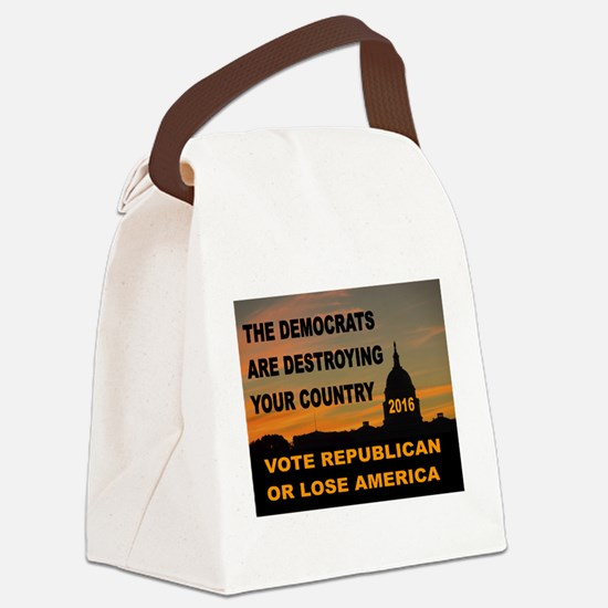 LAST WARNING Canvas Lunch Bag