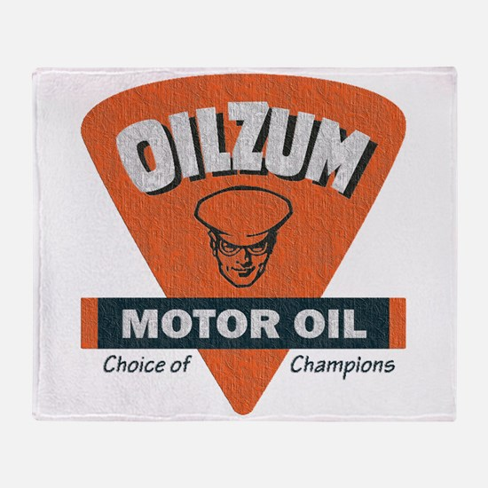 OilZum Retro Logo Throw Blanket