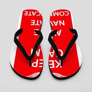 Smaller Keep Calm Flip Flops