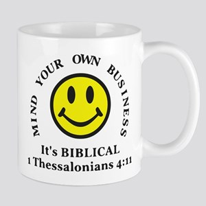 Mind Your Own Business, It's BIBLICAL 2 Mugs