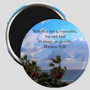MATTHEW 19:26 VERSE Magnet