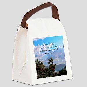 MATTHEW 22:37 Canvas Lunch Bag