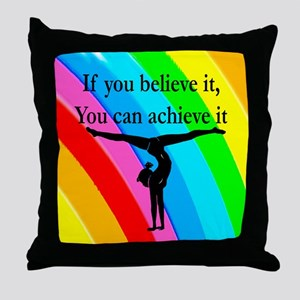 GYMNAST INSPIRATION Throw Pillow