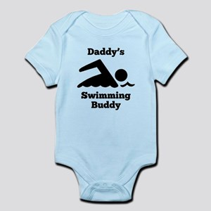 Daddys Swimming Buddy Body Suit