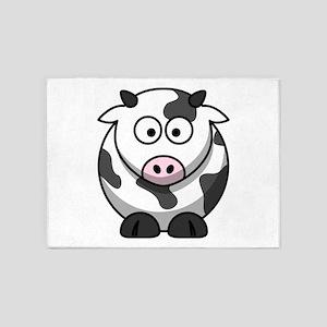 Cartoon Cow 5'x7'Area Rug