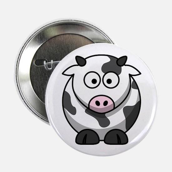"""Cartoon Cow 2.25"""" Button"""