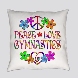 Peace Love Gymnastics Everyday Pillow