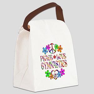 Peace Love Gymnastics Canvas Lunch Bag