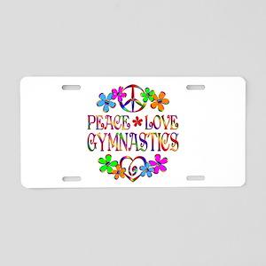 Peace Love Gymnastics Aluminum License Plate