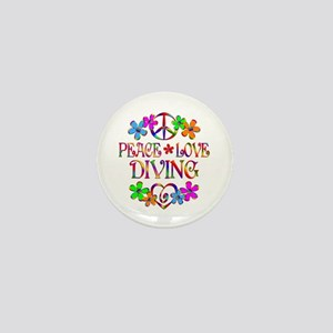 Peace Love Diving Mini Button