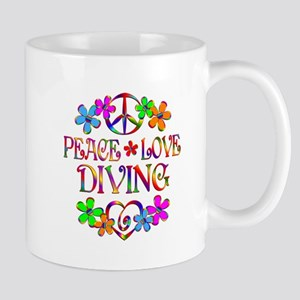 Peace Love Diving Mug