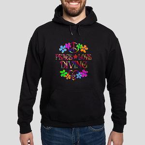 Peace Love Diving Hoodie (dark)